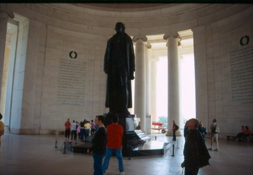 The Jefferson Memorial, interior. Washington, DC.