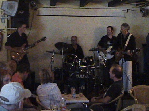 The Tinshack Blues Band with guest guitarist Dave (far right)