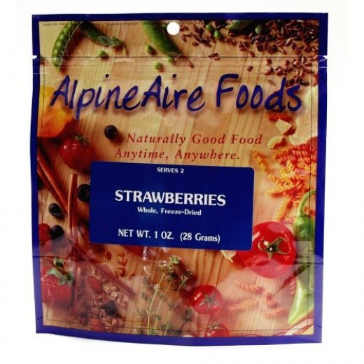 AlpineAire Foods Strawberries, Sliced, Freeze-Dried