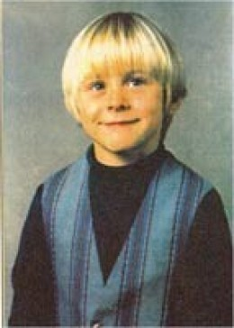 A very young Kurt Cobain . . . the only time he ever smiled?