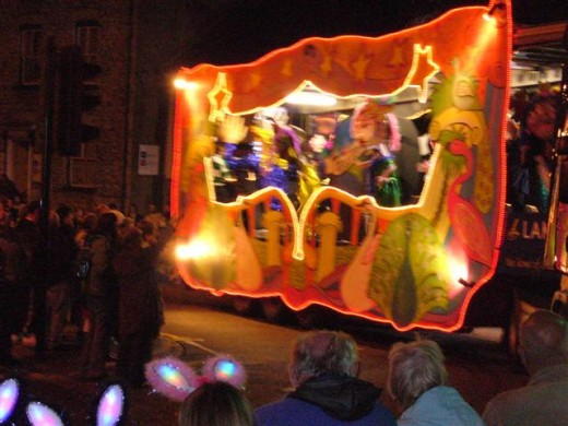 A Float in the Kendal Torchlight Carnival.