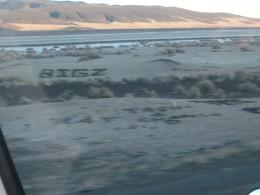 'name' rocks - dry lake bed, Nevada