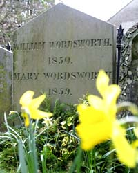 William Wordsworth's grave, St Oswalds Church, Grasmere.