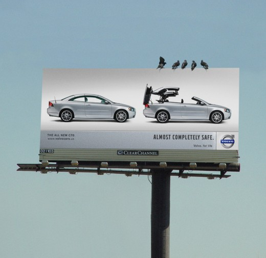 Volvo emphases safety.