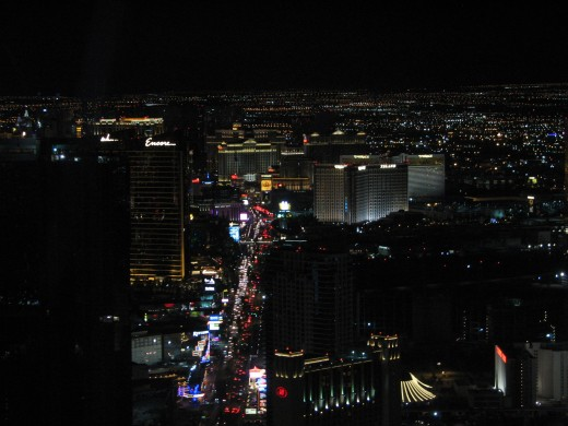 Night view from Stratosphere