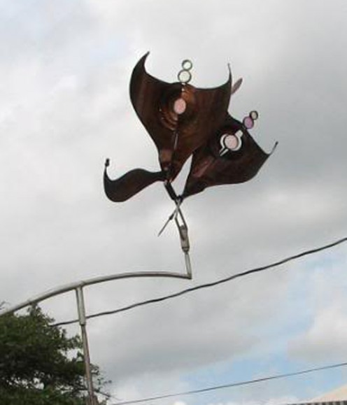 outdoor flying sculpture
