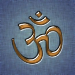 OM, a sacred syllable and a quintessential symbol of Hinduism.