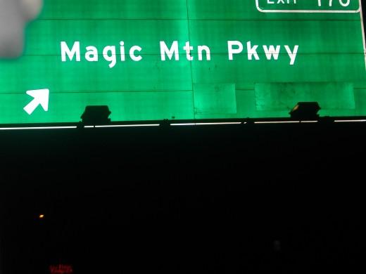 See, I got a quick shot of Magic Mountain