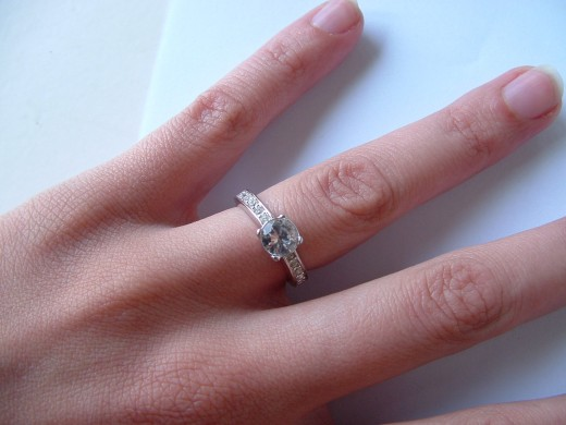 Diamond rings....not just for brides anymore.