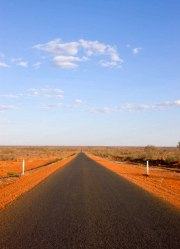 A good, sealed outback road.