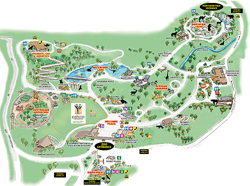 Cleveland Metroparks Zoo Map credit to the Cleveland Zoo website.