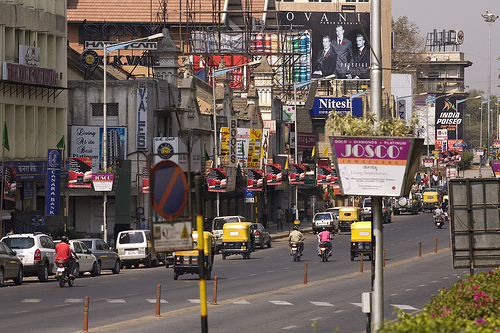 A view of MG ROAD