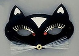 Deco cat mask. Available from AnniesCostumes.com