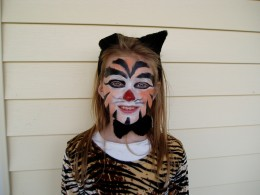 Halloween cat makeup idea.