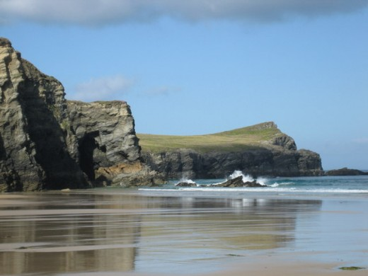 Newquay, Cornwall.   Whipsiderry Beach.