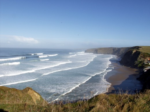 Whipsiderry Beach - looking towards Watergate Bay.