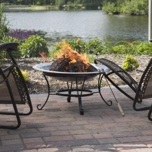 For maximum enjoyment of fire pits and the outdoors, place your pit so that your back is not toward the natural view.