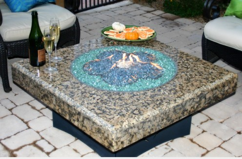 Fire glass gives an elegant and modern look to fire pits, fire tables, and fireplaces.