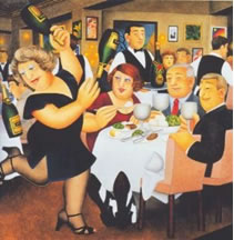 "Beryl Cook - ""Dining Out"""