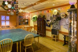 The Dining Room at Professor Pennypickles workshop is all about power and electricity.