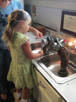 A sink full of magnets, makes washing silverware fun!