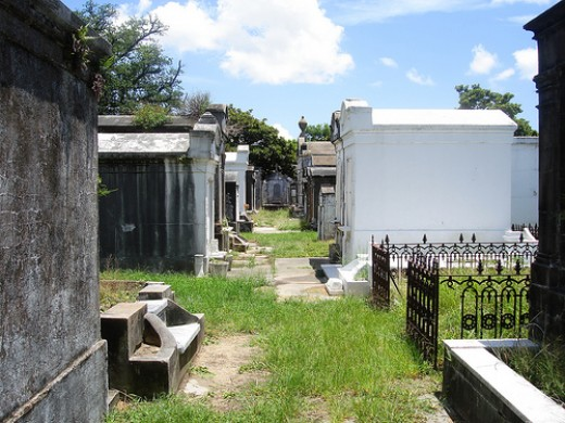 An avenue in the City of the Dead