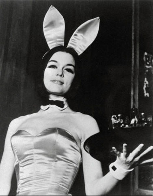 Gloria Steinem In Full Bunny Costume