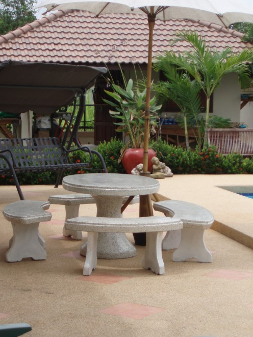 Concrete garden furniture