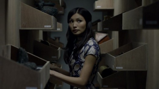 "Soo Lin Yao (Gemma Chan) has troubling ties to the murders in ""The Blind Banker""."