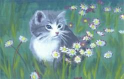 """""""Norbert"""" the kitten, acriylic"""