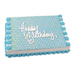 How to make a Polka Dot Birthday Cake just like the professionals!