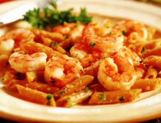 shrimp in champagne and butter