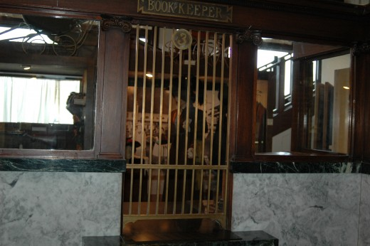 Inside showing old bank