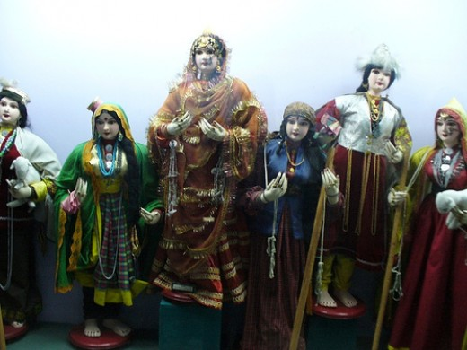 Beautiful local doll art from Dolls Museum in Delhi