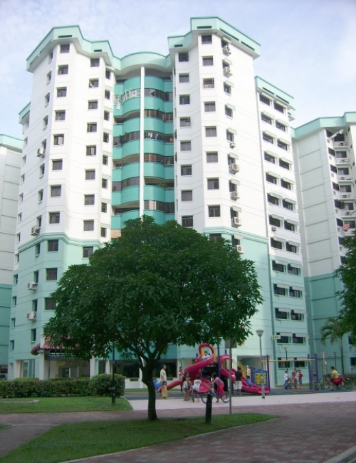 Typical HDB residential block