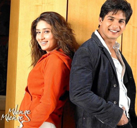 Kareena Kapoor and Shahid Kapur in 'Milenge Milenge'