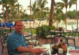 Gathering for breakfast at the Ocean Bar & Grill