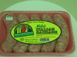 Italian Sausage either mild or spicy depending on your preference