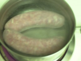 Italian Sausages Boiling