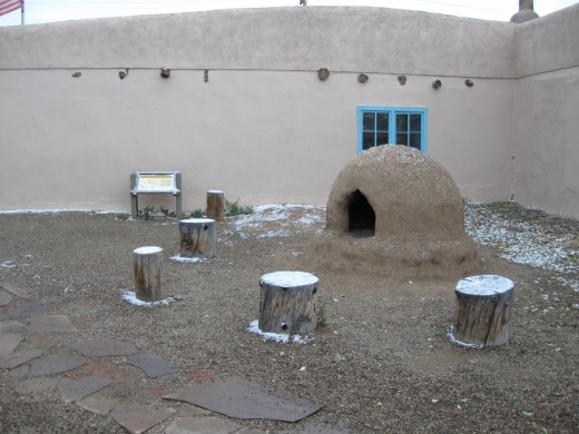 Outdoor Oven in courtyard of the Carson home - Cooking was done outside during hot summer weather.