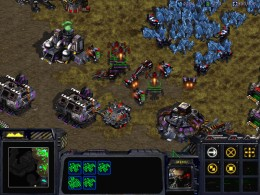 Here's a screenshot from the original Starcraft game. This is part of a mission from the Terran campaign.