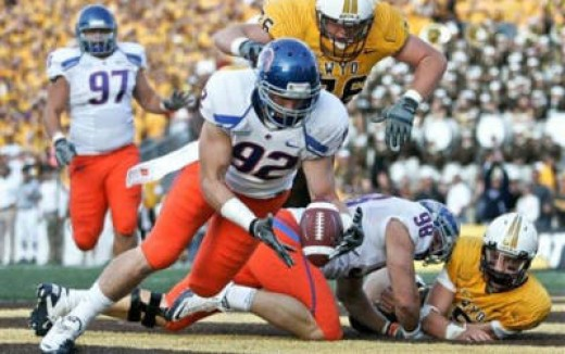 Boise State took it to Wyoming by a score of 51-6
