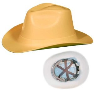 Hard hats are available in many shapes, sizes and colors, like this Smith & Wesson hard hat from Amazon.