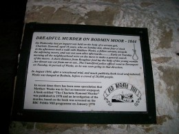 Murder Mystery Experience - Jury Service.  Plaque at Bodmin Jail about Matthew Weeks