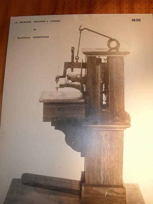 First sewing machine