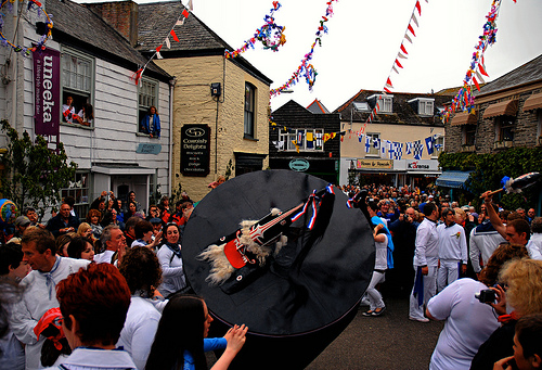 Padstow May Day Obby Oss.    Photo by: Ennor