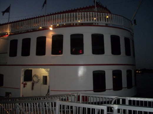 The River Queen we took our dinner cruise on