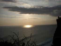 The view of Uluwatu at sunset