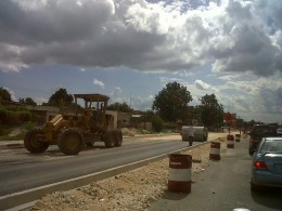 The rest of Washington Boulevard is being converted into a dual carriageway.