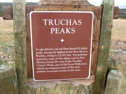 Sign Describing New Mexico's Truchas Peaks